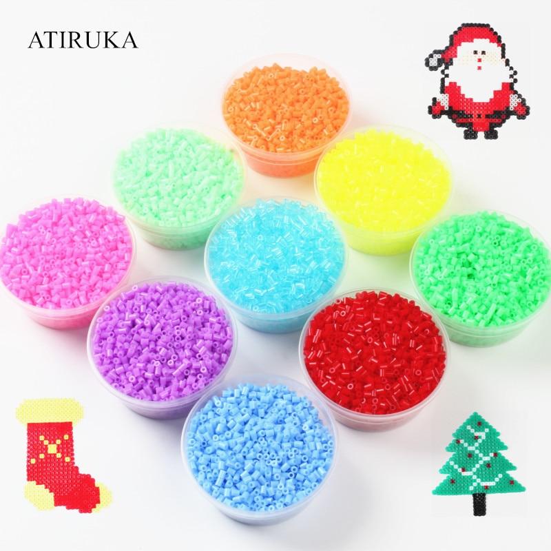 1000Pcs/Bag 2.6MM Hama Beads Puzzle Toys For Children Speelgoed 72 Colors Educational Toys Perler Beads 3D Puzzle Brinquedo