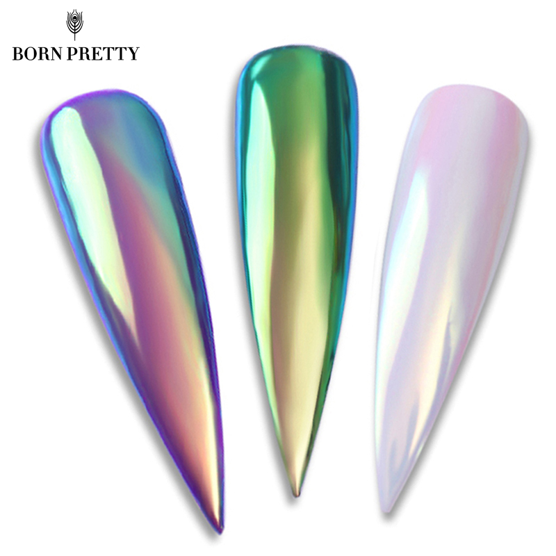 BORN PRETTY Neon Glitter Mirror Nagelpulver 0.2g Ultra-thin Mermaid Chrome Pigment Manicure DIY Nail Art Decorations