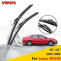 YIKA Car Windscreen Wipers Rubber Windshield Glass Wiper Blades For Lexus RX330 26 22 Fit Hook