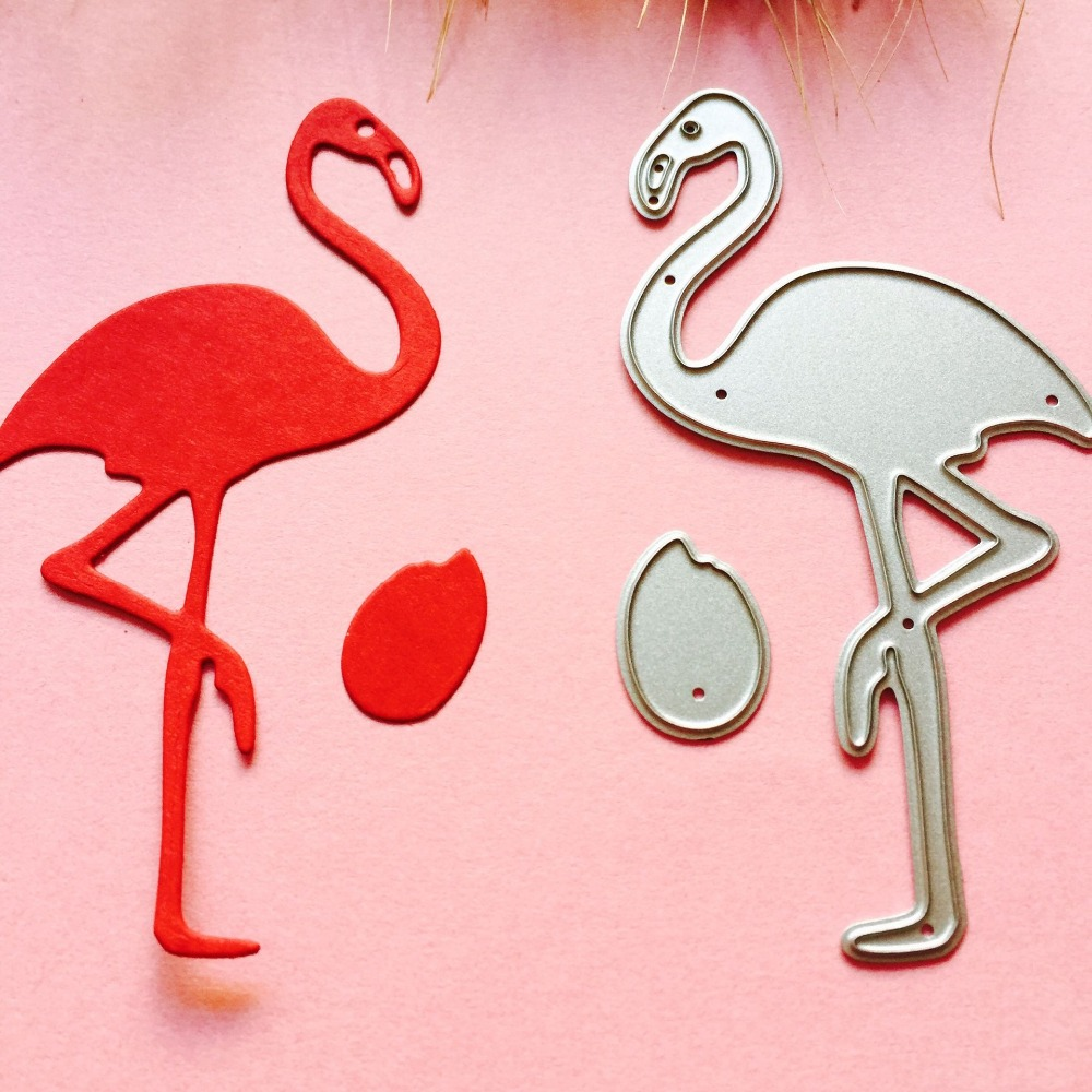 Flamingo Metal Cutting Dies For DIY Scrapbooking Animal Stamp/photo ...