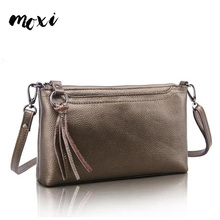 MOXI Daily Female Messenger Bag Genuine Leather Womens Shoulder Bags Leisure Solid Color Designer Ladies Crossbody