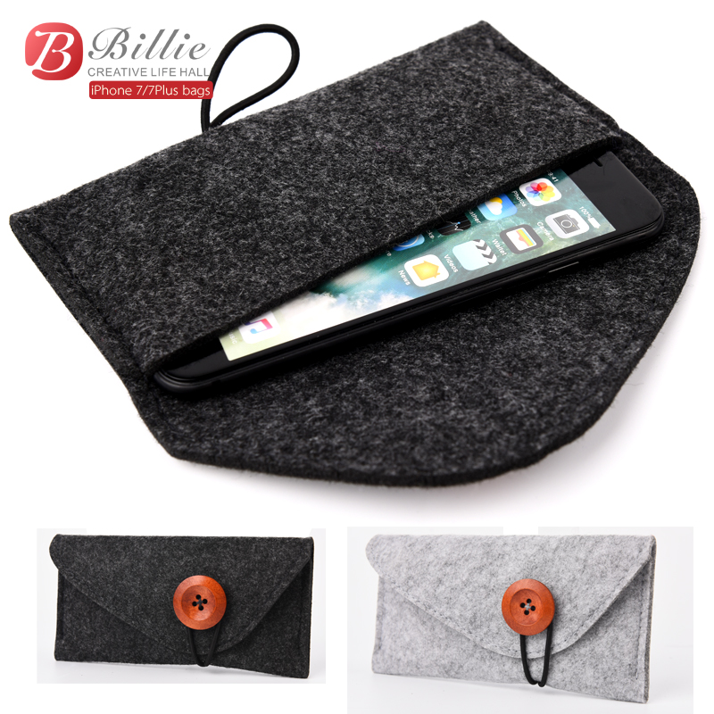 2017 Original para apple iphone 7 Plus bolsa Funda de fieltro de lana - Accesorios y repuestos para celulares - foto 2