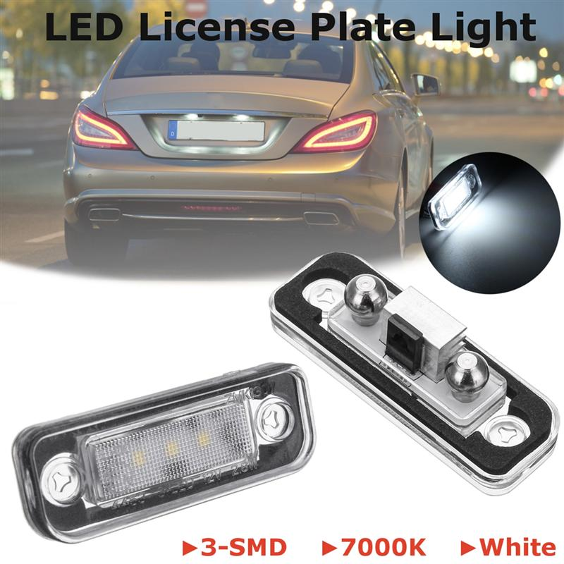 Par 3-smd 7000 K LED blanco Marcos de matrícula luces para Mercedes ...