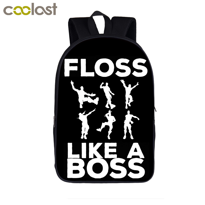 Floss Like A Boss / Straight Outta Tilted Tower Backpack For Teenager Boys Girls Children School Bags Women Bag Laptop Backpacks цены