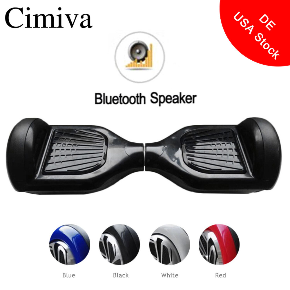 Cimiva 6.5 inch Hoverboard Self Balancing Electric Power Scooter Geroscope Two Wheels Skateboard with Bluetooth Speaker cn ge us warehouse smartmey 6 5inch electric self balancing scooter two wheels hoverboard gyroscopic smart skateboard