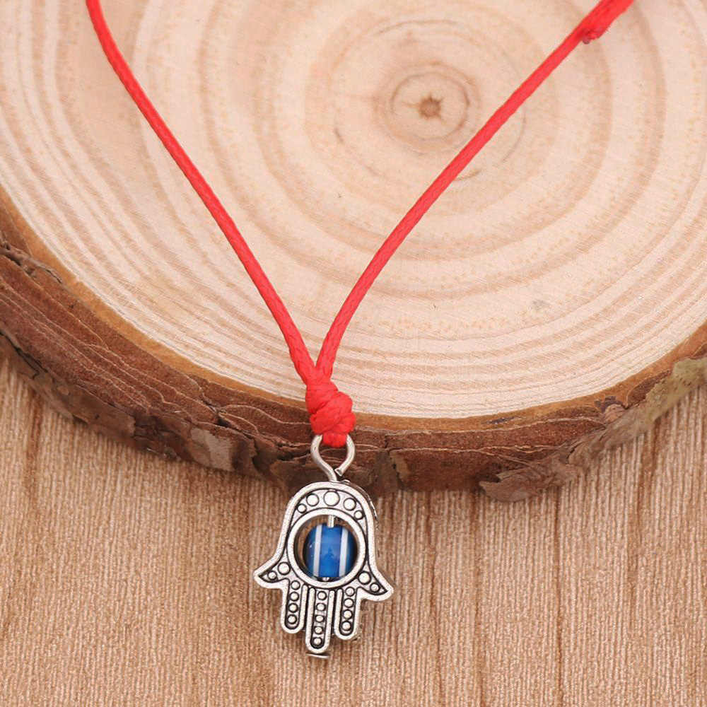 Lucky Red String ด้าย Hamsa สร้อยข้อมือสีฟ้าตุรกี Evil Eye Charm ผู้หญิง Handmade ของขวัญเครื่องประดับ