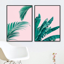 Green Plant Nordic Posters And Prints Tropical Fresh Leaves Wall Art Canvas Painting Pop Art Wall Pictures For Living Room Decor green leaves do what you love quote nordic posters and prints wall art canvas painting plant wall pictures for living room decor