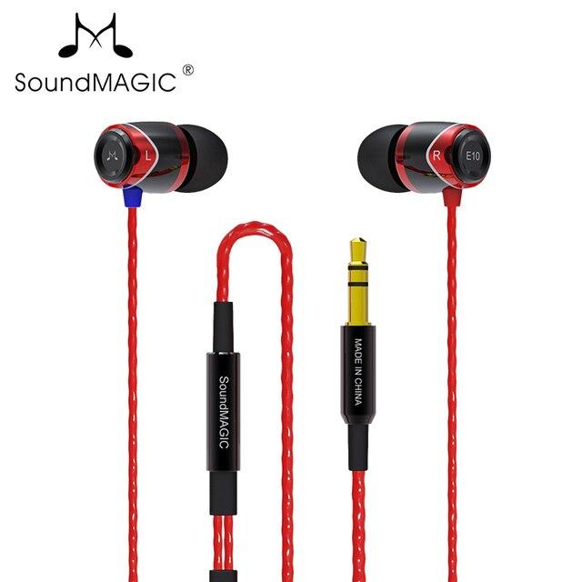 100% جديد الأصلي الأصلي Soundmagic الصوت ماجيك E10 الضوضاء عزل سماعات أذن داخل الأذن سماعات