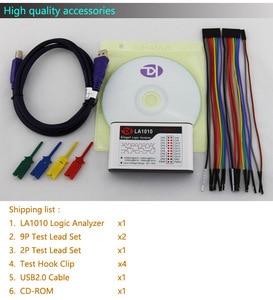 Image 2 - Kingst la1010 usb logic analyzer 100m taxa de amostra máxima, 16 canais, 10b amostras, mcu, braço, fpga debug ferramenta inglês software