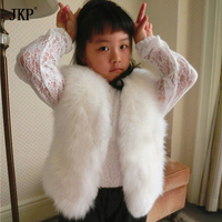 Children's Real Fox Fur Vest Girls Kids Fox Fur Coat Autumn Winter Baby Fox Fur Vest coat clothing boy warm vest