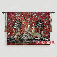 Belgium medieval home decoration textile series visual big 103*138cm jacquard fabric picture tapestry wall hangings H131