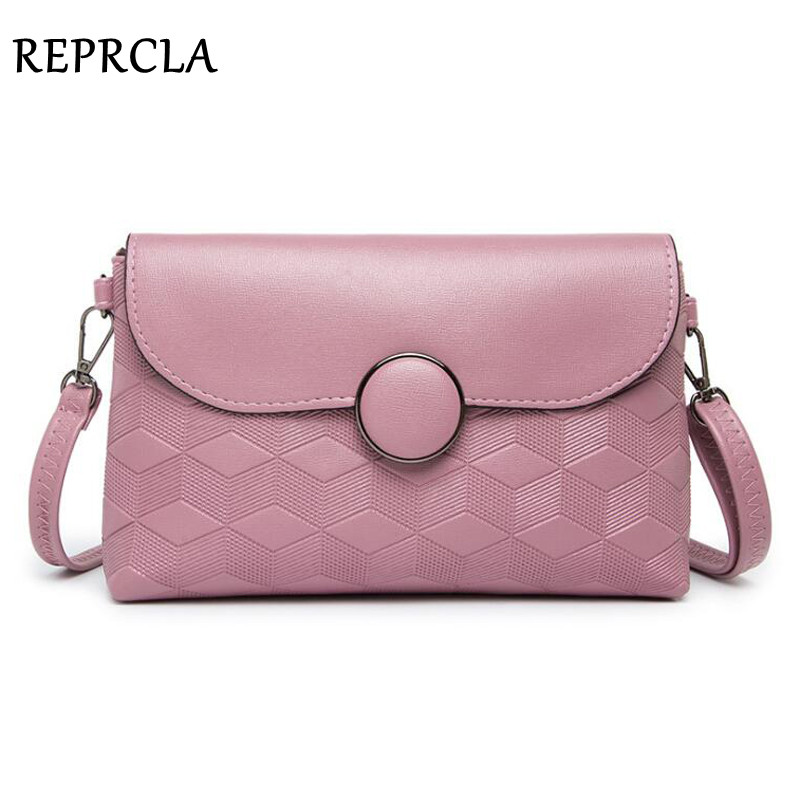 REPRCLA Brand Designer Shoulder Bags Round Buckle Women Messenger Bags PU Leather Fashion Crossbody Bags Handbags Day Clutches 2017 fashion women pu leather bags brand designer handbags