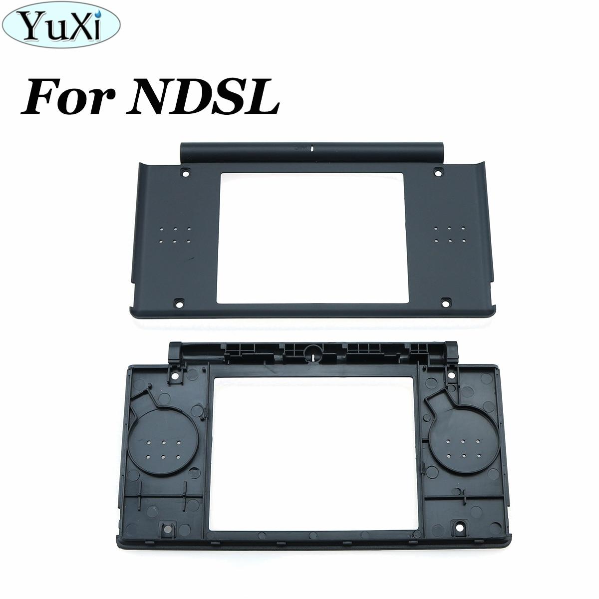YuXi Upper Screen Inner Frame For DS Lite Frame Housing Shell Cover Case For NDSL Black Top Console