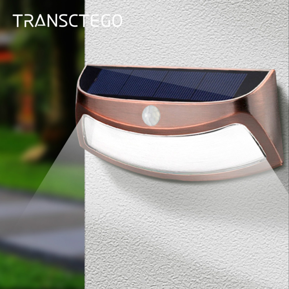 2Pack 10 LED 600LM Security Wall Light Solar Power Outdoor Patio Lamp Waterproof
