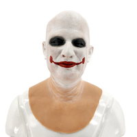Super Realistic Silicone Mask Cosplay The Joker Mask Costume for Halloween Party Male Mask