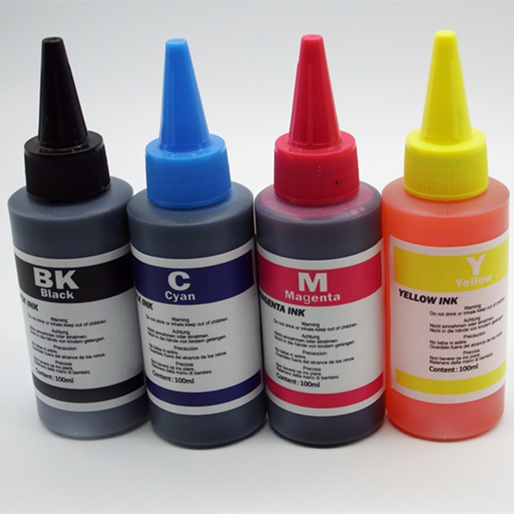 4 x 100ml/Color Refill Dye Ink Kit Kits For HP 564 364 178 862 PhotoSmart B8550 C6300 C6380 C6383 Refillable Inkjet Printer