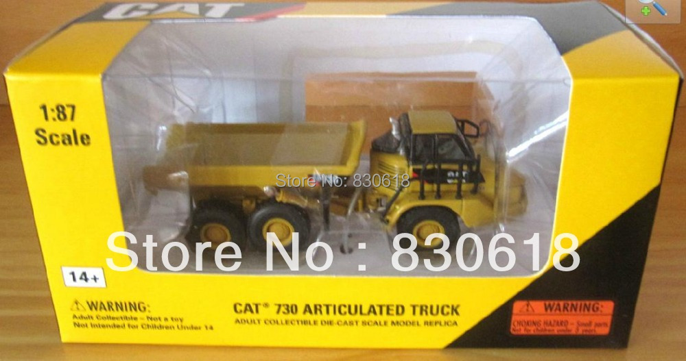 NORSCOT Die-cast CAT 730 Articulated Dump Truck 1/87 HO Scale NEW #55130 Construction vehicles toyNORSCOT Die-cast CAT 730 Articulated Dump Truck 1/87 HO Scale NEW #55130 Construction vehicles toy