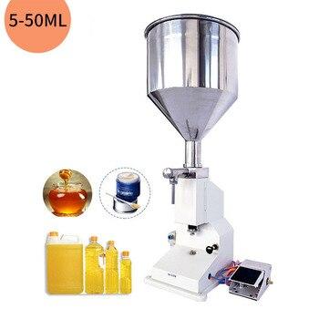 5 ~ 50 мл 10L пневматическая Вертикальная количественная маленькая машина для наполнения косметического шампуня, питьевой воды пчелы, с педаль...