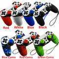 1 PCS Soft Silicone Protection Case with Hand Wrist Strap for Sony Playstation 4 PS4 Wireless Controller + 2 pcs Grips Caps