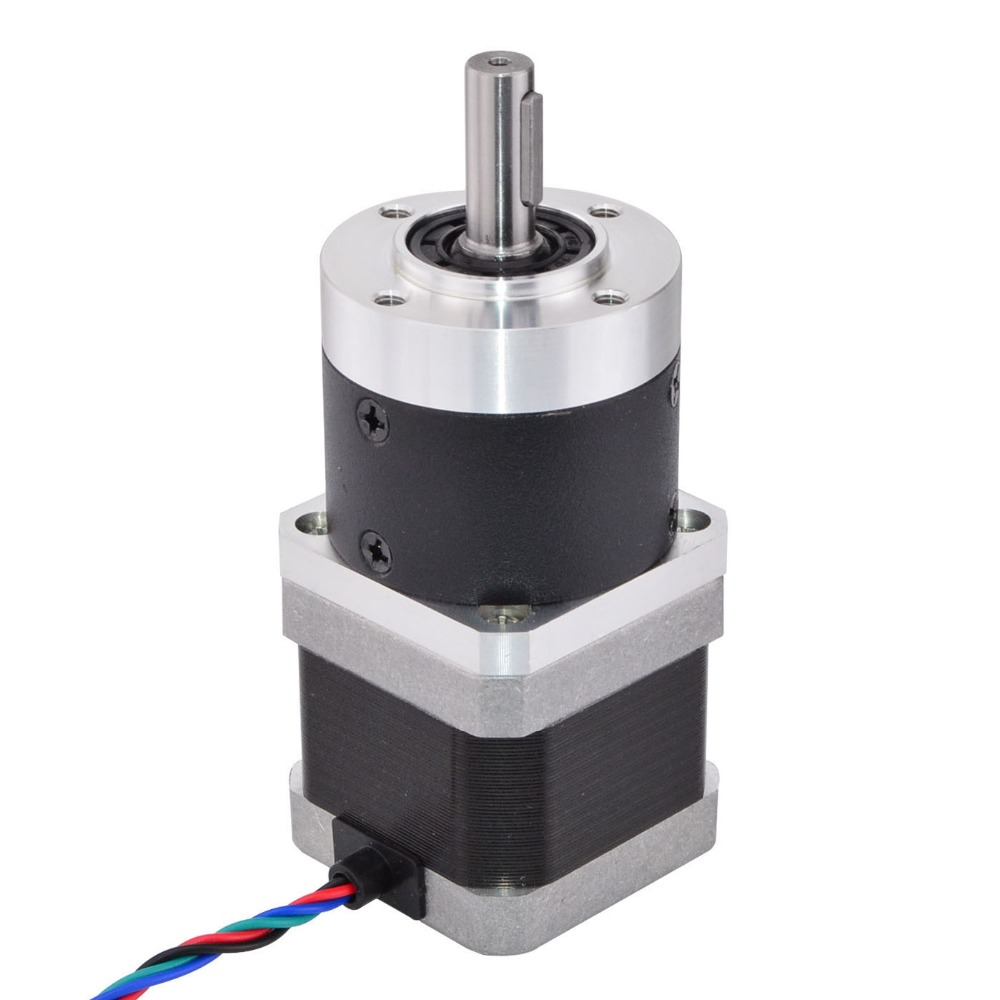 цена на Nema 17 Stepper Motor L=39mm Gear Ratio 10:1 High Precision Planetary Gearbox 1.68A for CNC 3D Printer