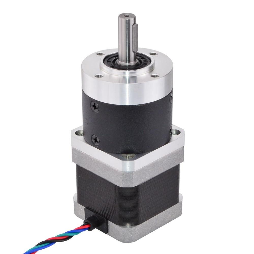 Nema 17 Stepper Motor L=39mm Gear Ratio 10:1 High Precision Planetary Gearbox 1.68A for CNC 3D PrinterNema 17 Stepper Motor L=39mm Gear Ratio 10:1 High Precision Planetary Gearbox 1.68A for CNC 3D Printer