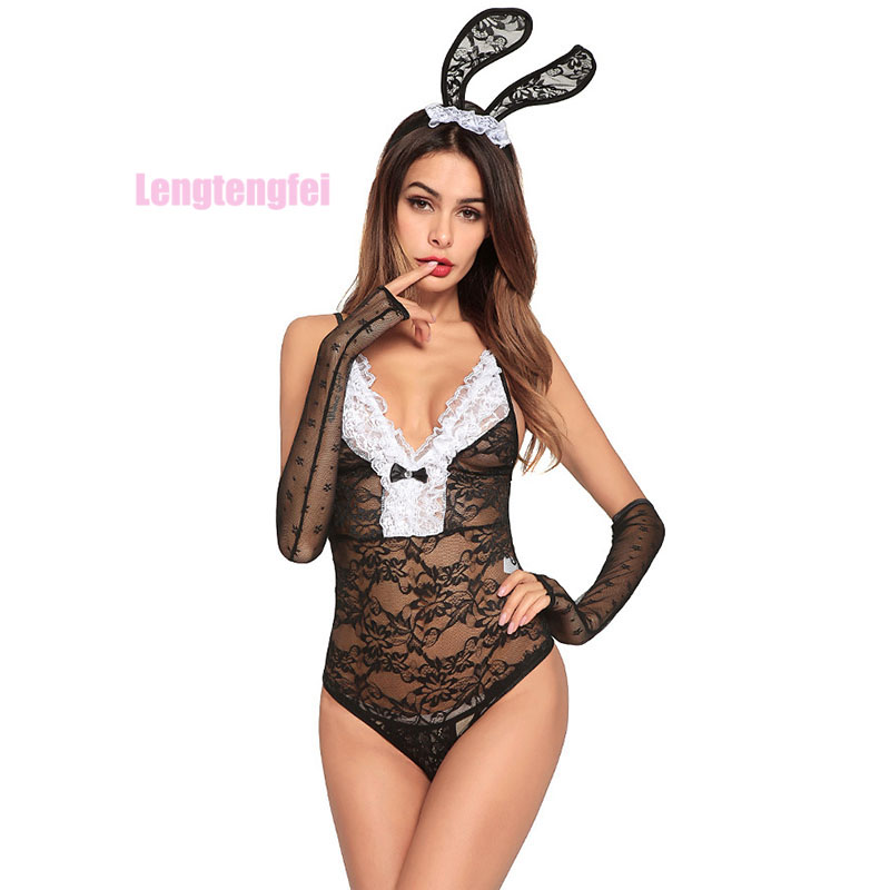 Women Sexy Babydoll Lingerie Halloween Banny Girl Uniform Fancy Dress Costume Outfit Sexy Lingerie Sets