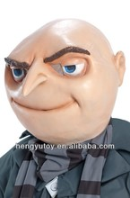 Popular Despicable Me Mask 2 latex Adult Halloween Gru Accessory