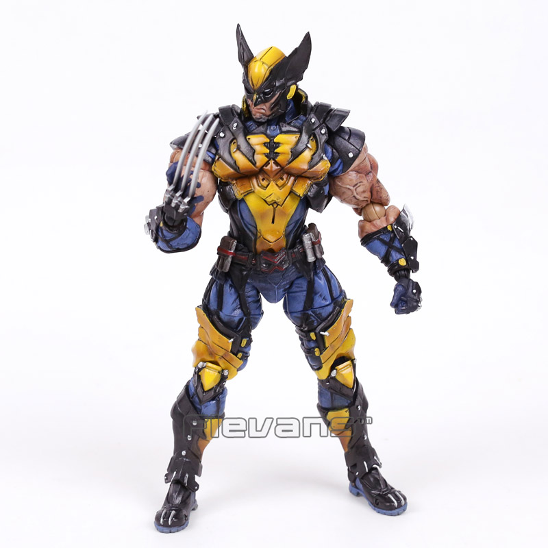 Play Arts Kai Marvel X-MEN Wolverine Logan PVC Action Figure 16