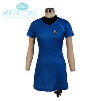 Star Trek Into Darkness Marcus Costume Dress Women Shirt Dress Uniform Cosplay Costume Blue Version
