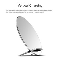 New Mirror Qi Wireless Charger Universal Fast Charging Stand for iPhone 8 10 X Samsung S6 S7 S8 S8 Plus Android Smart Device