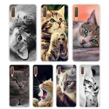Silicone Phone Case I love cats Printing for Samsung Galaxy A8S A9 A8 Star A7 A6 A5 A3 Plus 2018 2017 2016 Cover