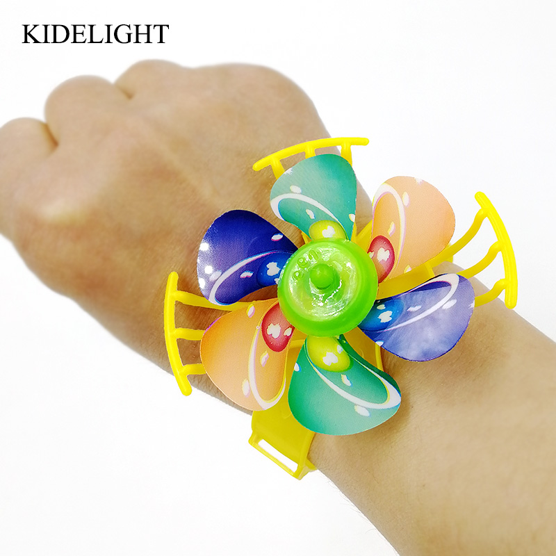 10pcs Kids Happy Birthday Party Gift Windmill Watch Baby Shower