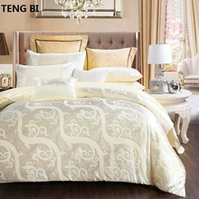 4pcs duvet cover set home textile bed sheet satin jacquard bedding set bed linen quilt queen king size TH021 bed linen set leticia collection estetica fabric of satin jacquard production of ecotex russian companies