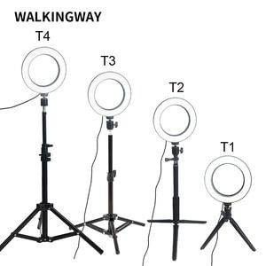 Image 2 - مصباح مكياج على شكل حلقة ليد 6 بوصة من WalkingWay مصباح USB محمول لالتقاط صور السيلفي حامل ثلاثي القوائم إضاءة تصوير فوتوغرافي لـ Youtube video live