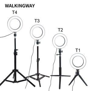 Image 2 - Walkingway 6 Inch Vòng LED Trang Điểm Nhẹ Đèn Di Động USB Selfie Đèn Chân Đế Tripod Chụp Ảnh Chiếu Sáng Cho Video Youtube Sống