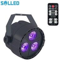 SOLLED 3 LED Par Lights RGB Colorful Multi Lighting Modes Stage Lights Flexible Remote Control DMX