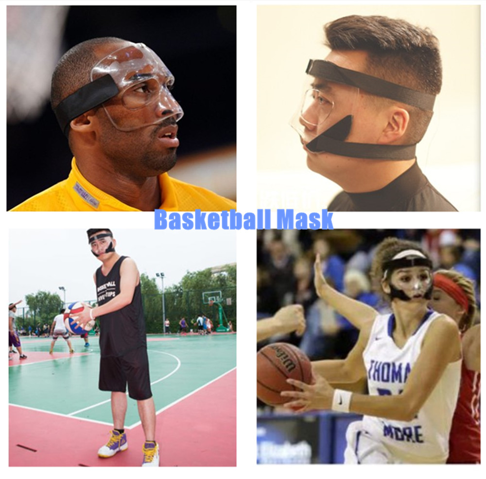Universal Sizes Basketball Protection Full Face Mask Football Mask Sports Medical Face Nose Eye Cheek Protecting