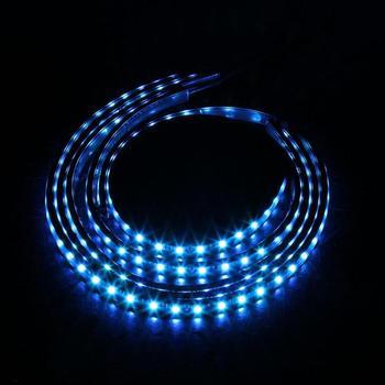Kits De Lumière Led | VODOOL 4 Pièces Voiture RVB LED Bande Sous La Voiture Tube Soubassement Lueur Système Kit Néon Lumineux Décoratif Atmosphère Bande W/Télécommande