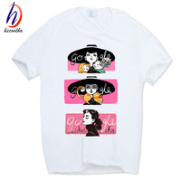 Hecoolba 2017 Men Women Print Audrey Hepburn Fashion T Shirt O Neck Short Sleeves Summer Casual