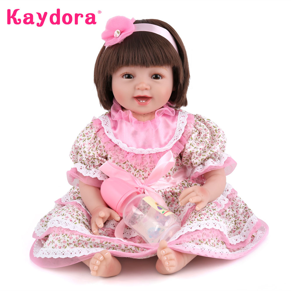 Kaydora 55 CM Silicone Reborn Doll Girl Doll With Fantasy Dress 22 Inches dolls reborn for girl Birthday Gift Toys For KidsKaydora 55 CM Silicone Reborn Doll Girl Doll With Fantasy Dress 22 Inches dolls reborn for girl Birthday Gift Toys For Kids