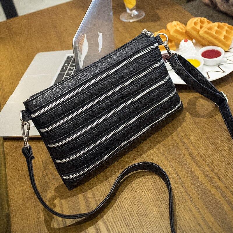 ФОТО 2017 new Korean fashion women's hand bag female large capacity single shoulder bag zipper bag