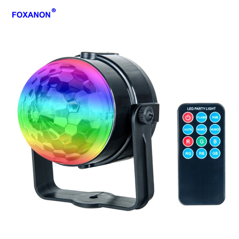 Foxanon RGB Stage Lighting effect Lamp 3W Crystal Magic Moving Head Ball Lamp Laser Projector Christmas