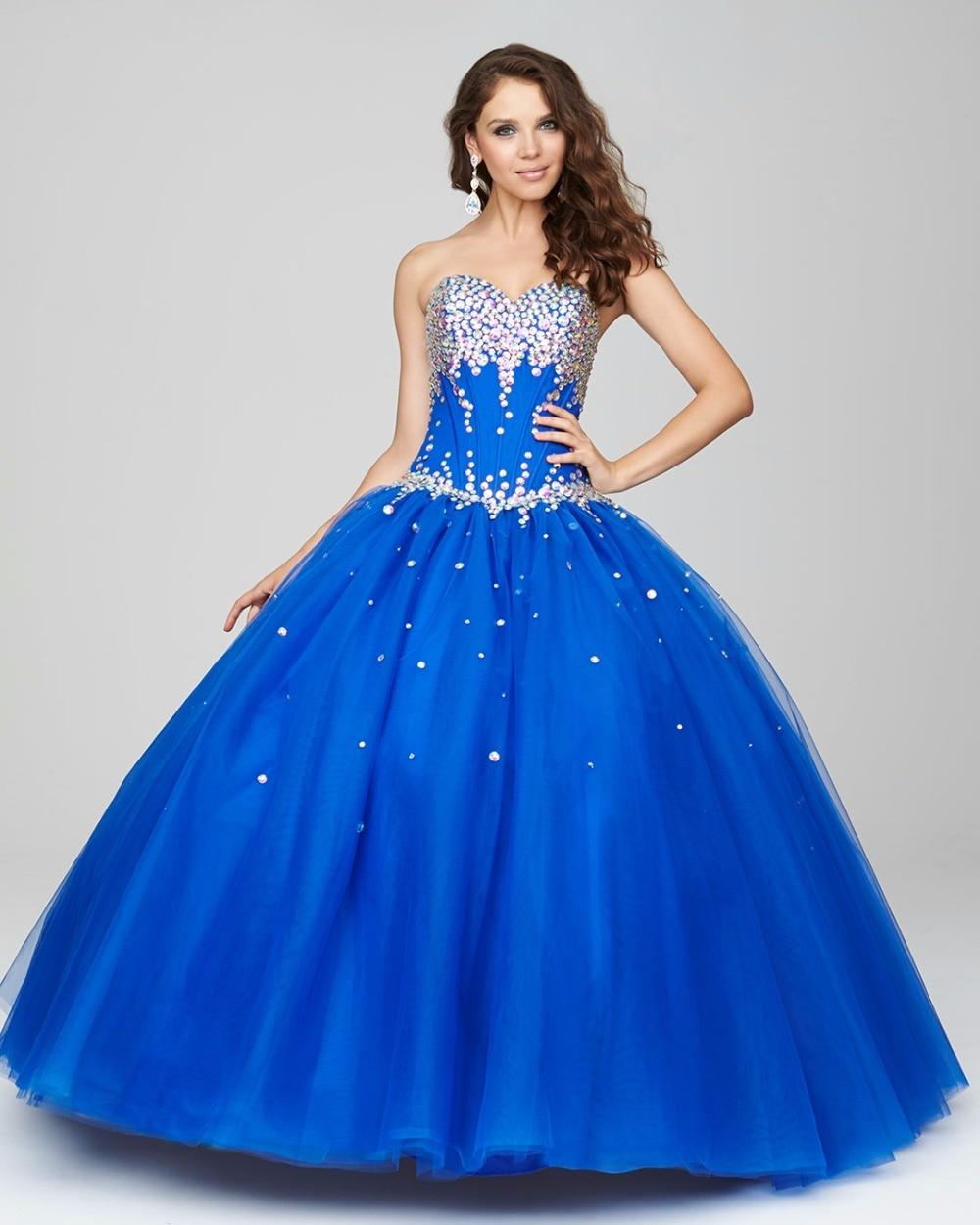 R7164 10 De Descontoazul Royal Vestido De Baile Vestidos De Baile 2017 Cristais Namorada Adolescentes Vestidos De Festa Formal Prom Vestidos