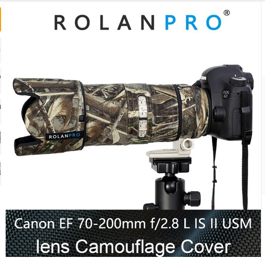 ROLANPRO Lens Camouflage Rain Cover Canon EF 70 200mm F2 8 L IS USM lens Rain