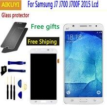 For Samsung Galaxy J7 2015 Display LCD Display+Touch Screen Digitizer Assembly For Samsung Galaxy J700 J700F J700M J700 LCD все цены