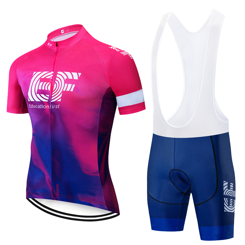 TEAM 2019 NEW EF CYCLING JERSEY 12D bike shorts set Ropa Ciclismo MENS summer quick dry pro BICYCLING Maillot pants clothing|Cycling Sets| |  - title=