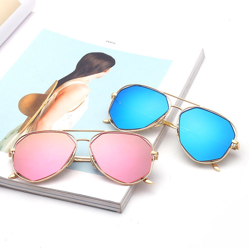 Polygonal Hollow Polarized Sunglasses, Color Film Personality Sunglasses Toad Glasses, Sunglasses For Men And Women