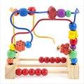 Chico Clásico Suave Juguete Laberinto Del Grano De Madera Montessori Conjunto con cuentas de colores juguete educativo temprano con colorbox regalo para infantil