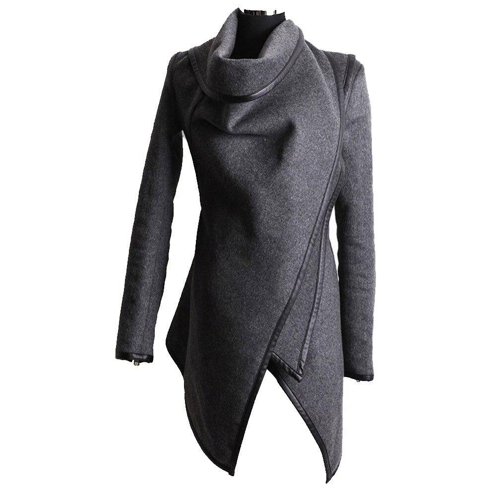 2018 зима Готический повседневное офисные женские туфли пальто для будущих мам Тонкий High Street Женская мода Серый Простой Элегантный те