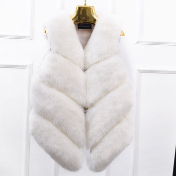 2020 Real Promotion Vest Fur In The Long Section Of Women Were Autumn Korean Version Of Fox Coat Waistcoat Stitching Sleeveless image